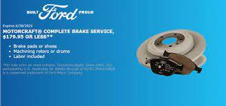 Ford Brake Coupons