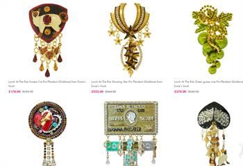 Lunch At The Ritz Pin pendants - Shop Pendants For Women