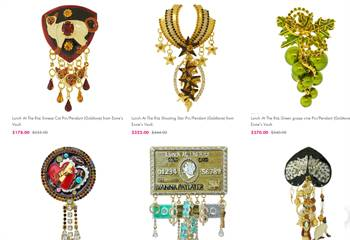 Lunch At The Ritz Pin pendants - Shop Pendants For Women