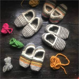 Handmade Unisex Organic Sheep Wool Slippers - Ville De Fleurs